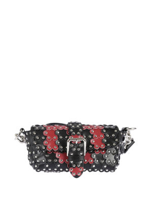 Valentino Red: cross body bags - Flower Puzzle two-tone leather bag