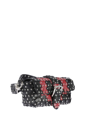 Valentino Red: cross body bags online - Flower Puzzle two-tone leather bag