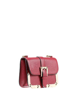 Valentino Red: cross body bags online - Stars detail leather crossbody