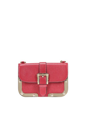 Valentino Red: cross body bags - Stars detail leather crossbody