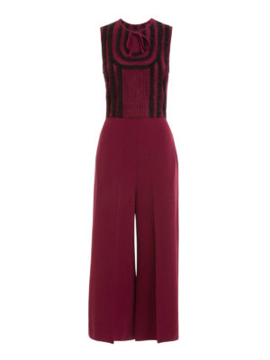 Valentino Red: jumpsuits - Knitted stretch jumpsuit