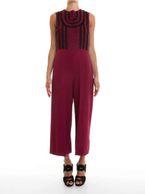 Valentino Red: jumpsuits online - Knitted stretch jumpsuit
