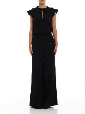 Valentino Red: jumpsuits online - Sleeveless crepe jumpsuit