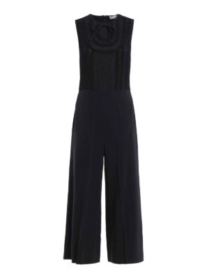 Valentino Red: jumpsuits - Tulle and lace crepe jumpsuit