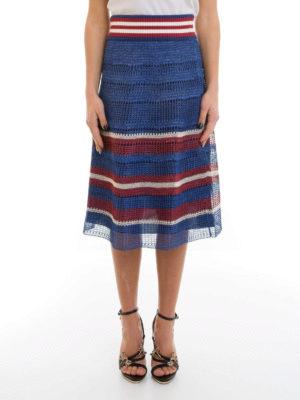 Valentino Red: Knee length skirts & Midi online - Raffia effect crochet skirt
