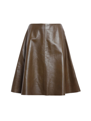 Valentino Red: leather skirts - Leather skirt