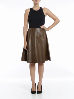 Valentino Red: leather skirts online - Leather skirt