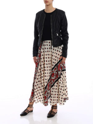 Valentino Red: Long skirts online - Patterned silk light skirt