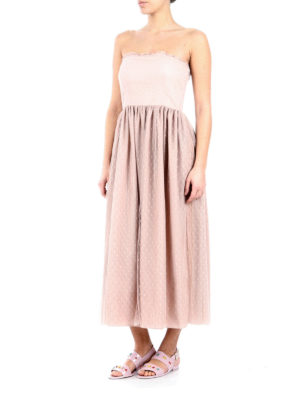 Valentino Red: maxi dresses online - Strapless romantic dress