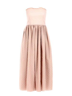 Valentino Red: maxi dresses - Strapless romantic dress
