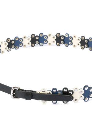 VALENTINO RED: cinture online - Cintura in pelle Flower Puzzle