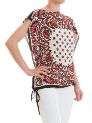 VALENTINO RED: bluse online - Kaftano a scatola in seta Paisley