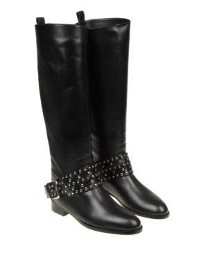 VALENTINO RED: stivali online - Stivali Flower Puzzle in pelle nera