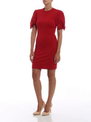 VALENTINO RED: abiti al ginocchio online - Tubino rosso con maniche a palloncino