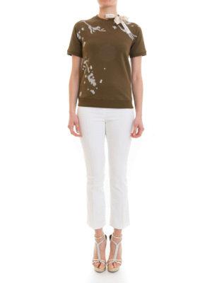 VALENTINO RED: Felpe e maglie online - Felpa T-shirt in cotone con fiocco