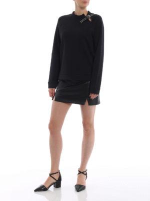 VALENTINO RED: Felpe e maglie online - Felpa nera con dettaglio cinturino e borchie