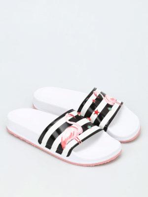 Valentino Red: sandals online - Printed beach sliders