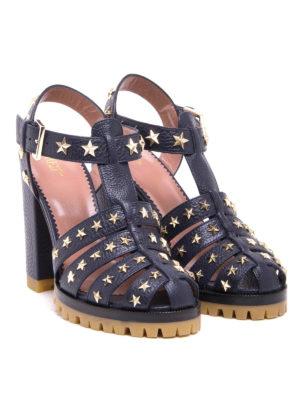 Valentino Red: sandals online - Studded leather sandal