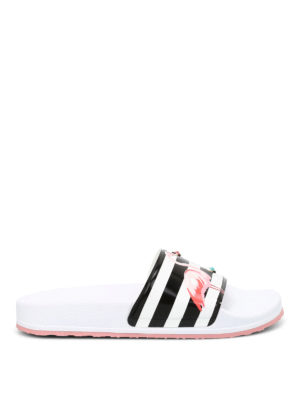 Valentino Red: sandals - Printed beach sliders