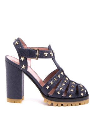 Valentino Red: sandals - Studded leather sandal