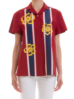 Valentino Red: shirts online - Short sleeve cotton shirt