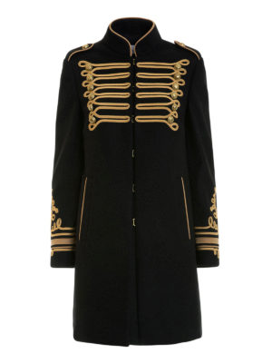 Valentino Red: short coats - Wool blend cloth military coat