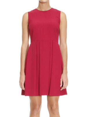 Valentino Red: short dresses online - Pleated skirt sleeveless mini dress