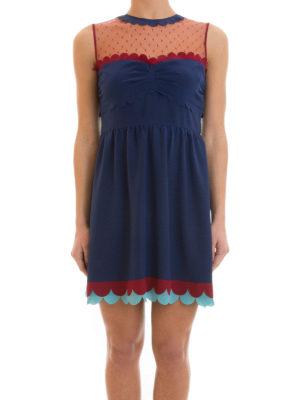 Valentino Red: short dresses online - Sleeveless silk short dress