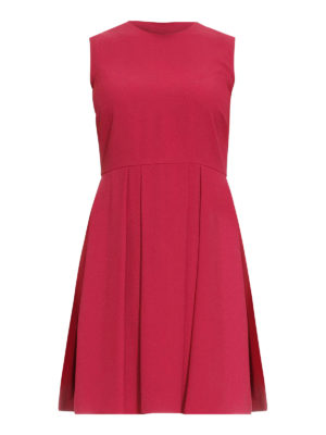 Valentino Red: short dresses - Pleated skirt sleeveless mini dress