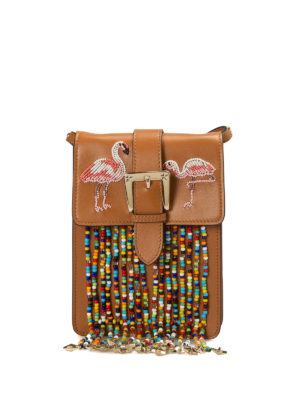 Valentino Red: shoulder bags - Flamingo beaded shoulder bag