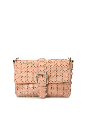 Valentino Red: shoulder bags - Flower Puzzle leather bag