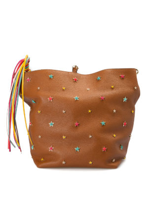 Valentino Red: shoulder bags - Multicolour stars leather bag