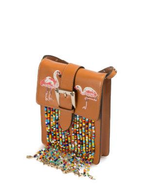 Valentino Red: shoulder bags online - Flamingo beaded shoulder bag