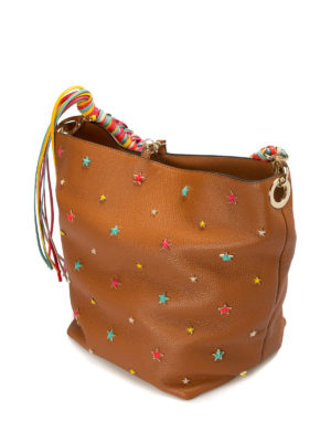 Valentino Red: shoulder bags online - Multicolour stars leather bag