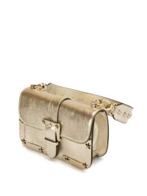 Valentino Red: shoulder bags online - Star detail metallic leather bag
