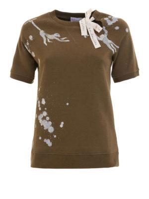 VALENTINO RED: Felpe e maglie - Felpa T-shirt in cotone con fiocco