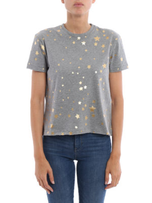Valentino Red: t-shirts online - Stardust print cotton T-shirt
