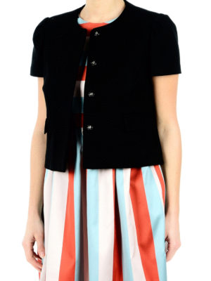 Valentino Red: Tailored & Dinner online - Cotton formal crop jacket