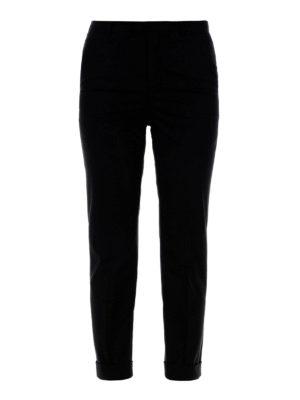 Valentino Red: Tailored & Formal trousers - Cotton formal crop trousers