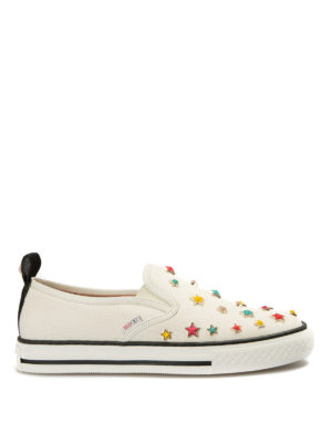 Valentino Red: trainers - Multicolour star canvas slip-ons