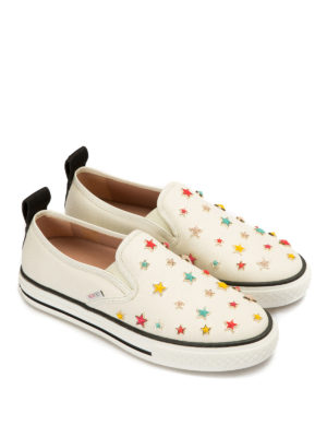 Valentino Red: trainers online - Multicolour star canvas slip-ons
