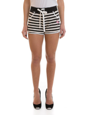 Valentino Red: Trousers Shorts online - Striped pique shorts