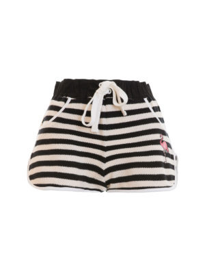 Valentino Red: Trousers Shorts - Striped pique shorts