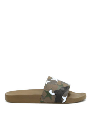 Valentino: sandals - Camustars slider sandals