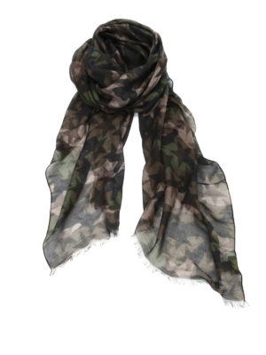 Valentino: scarves - Camustars cashmere blend scarf