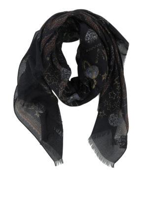 VALENTINO: sciarpe e foulard - Sciarpa con stampa Galaxy