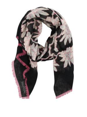 VALENTINO: sciarpe e foulard - Foulard in cashmere e seta fantasia