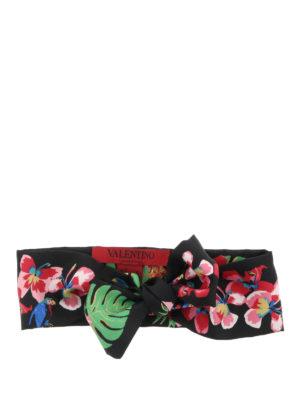 Valentino: scarves - Printed silk scarf bandeau