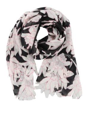 VALENTINO: sciarpe e foulard - Foulard in seta stampa Rododendro