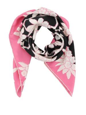 VALENTINO: sciarpe e foulard - Foulard in twill stampa Rododendro